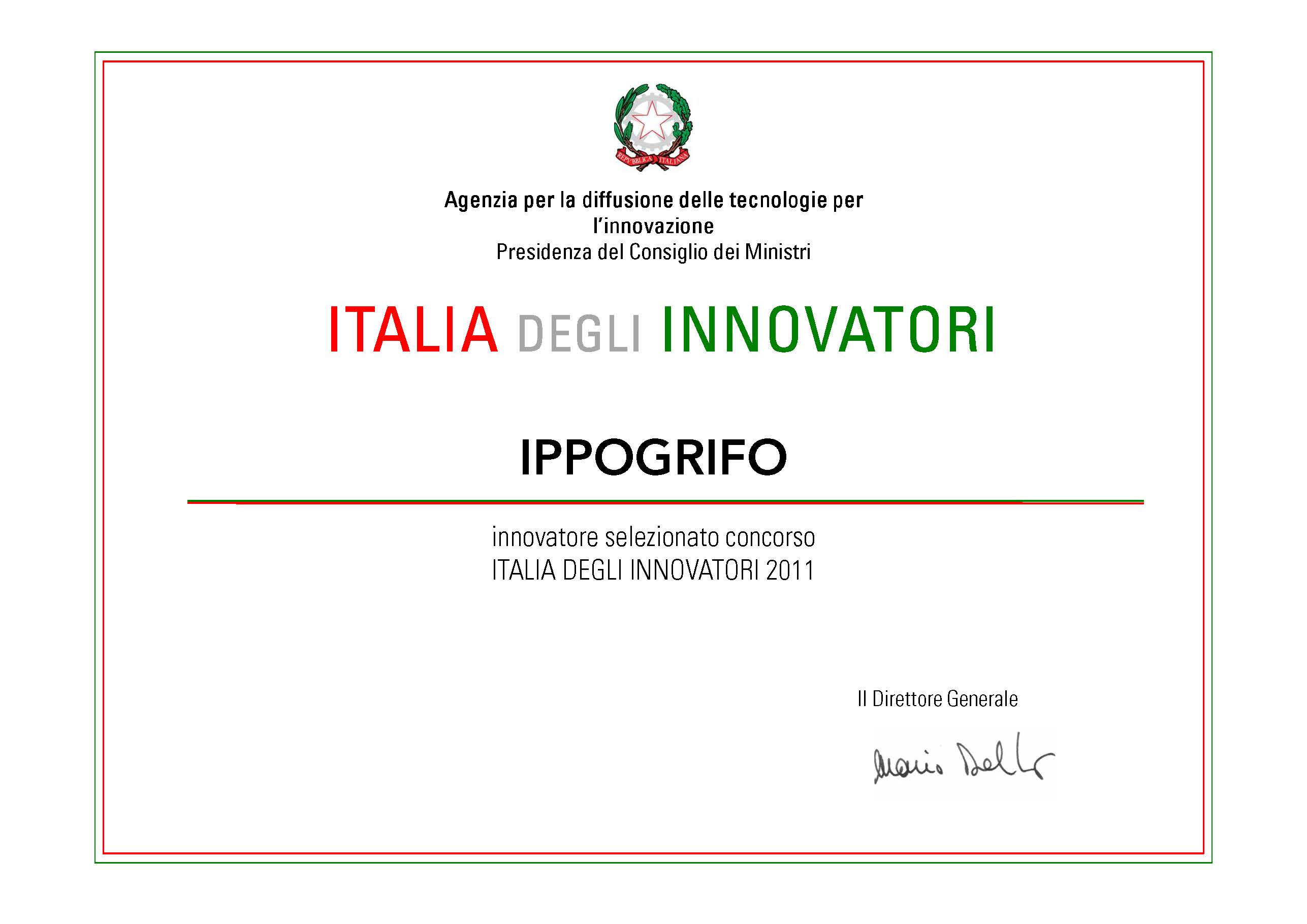 Attestato/Certificate